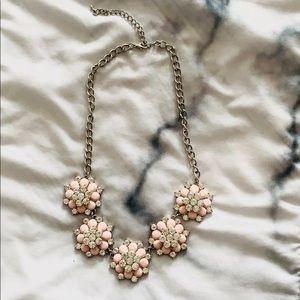 Light Pink Floral Statement Necklace